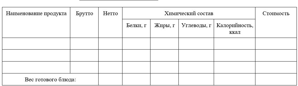 Карточка-раскладка (форма N 1-85)