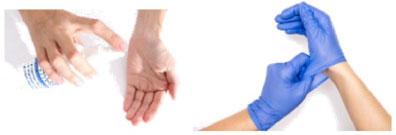 Вариант с заменой перчаток